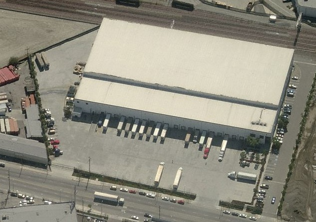 freezer cooler building warehouse Los Angeles Vernon California 90023