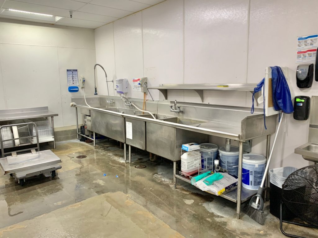 Several health department approved 3 stage sinks.